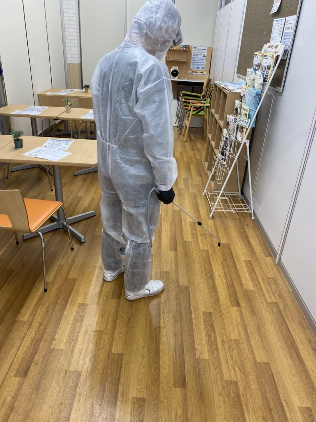 除菌・消毒作業