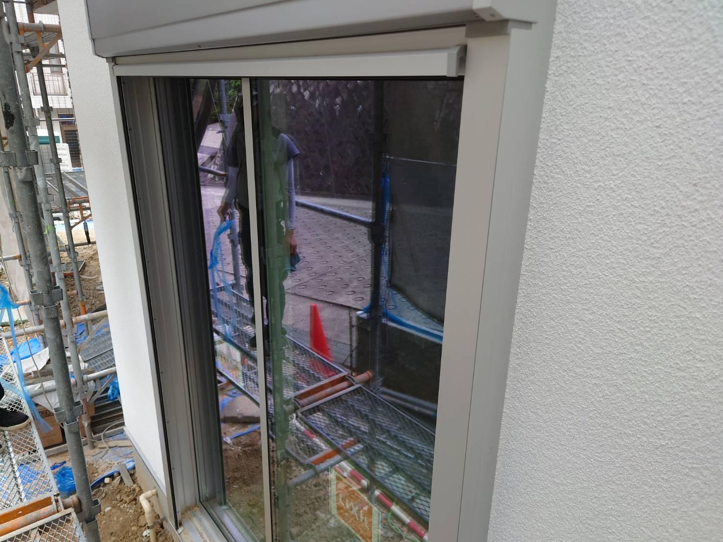 分譲住宅新築工事 外部クリーニング